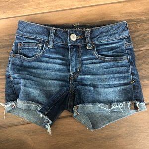 American Eagle super stretch denim jean shorts 00